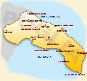 Cartina Puglia Oria.Dove Siamo Bed Breakfast